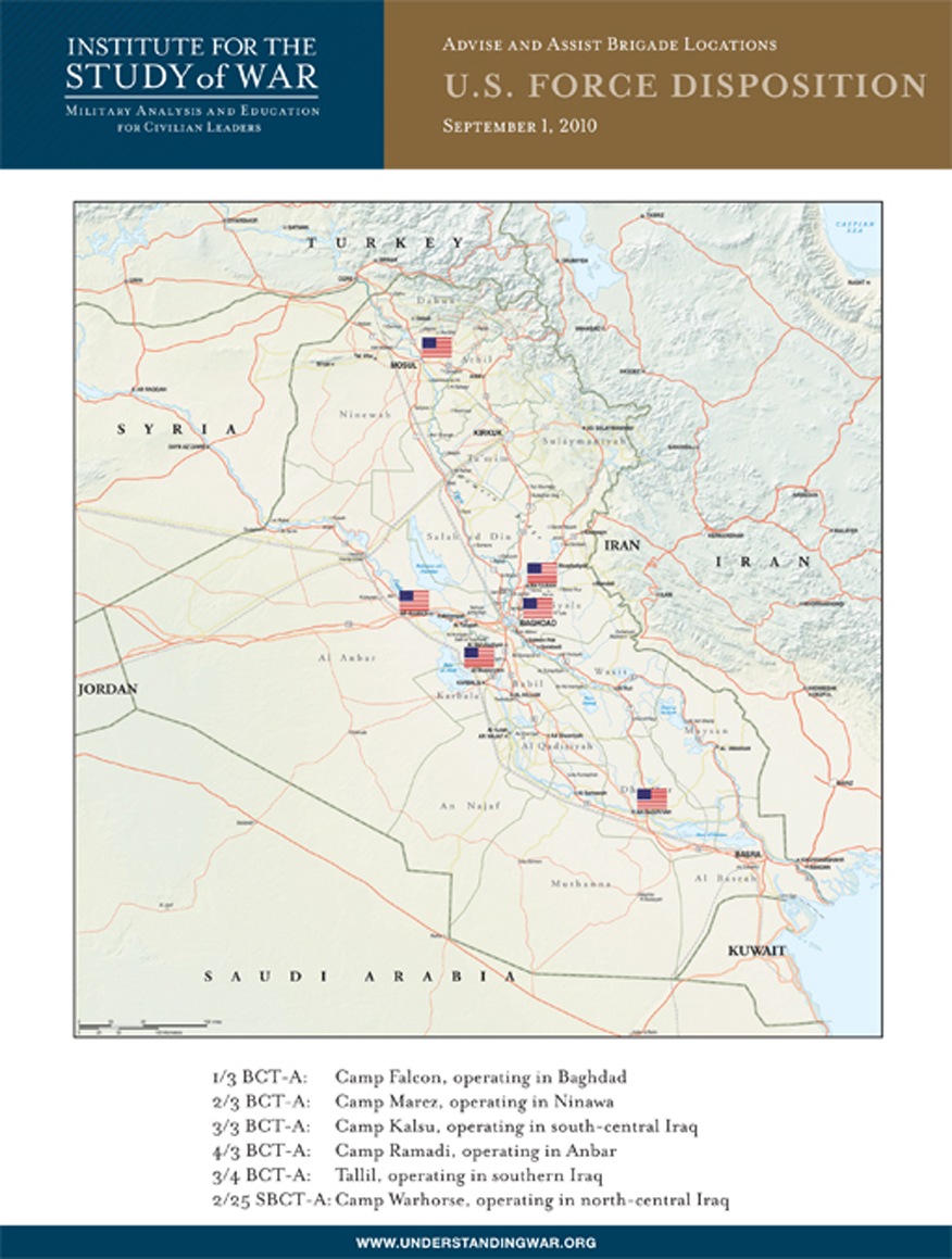 Map disposition of us forces in iraq institute for the study map disposition of us forces in iraq gumiabroncs Gallery
