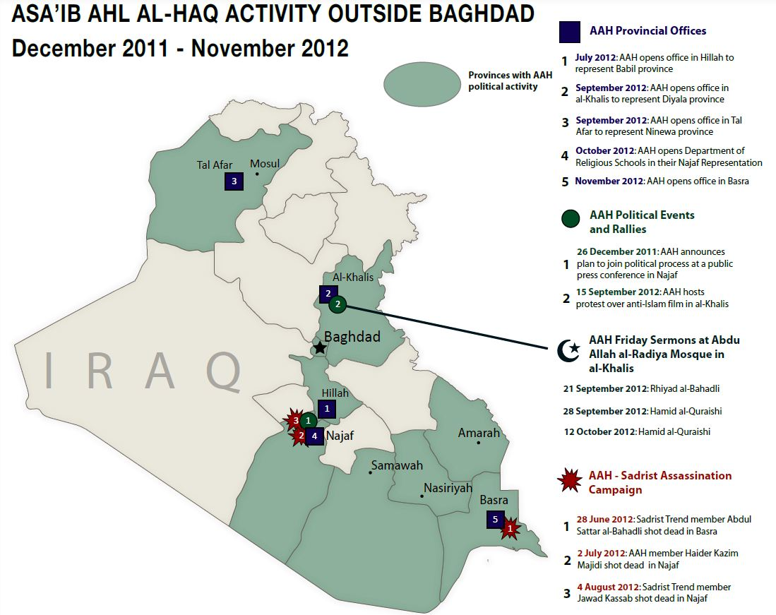 AAH Activity Outside of Baghdad Dec 2011-Nov 2012