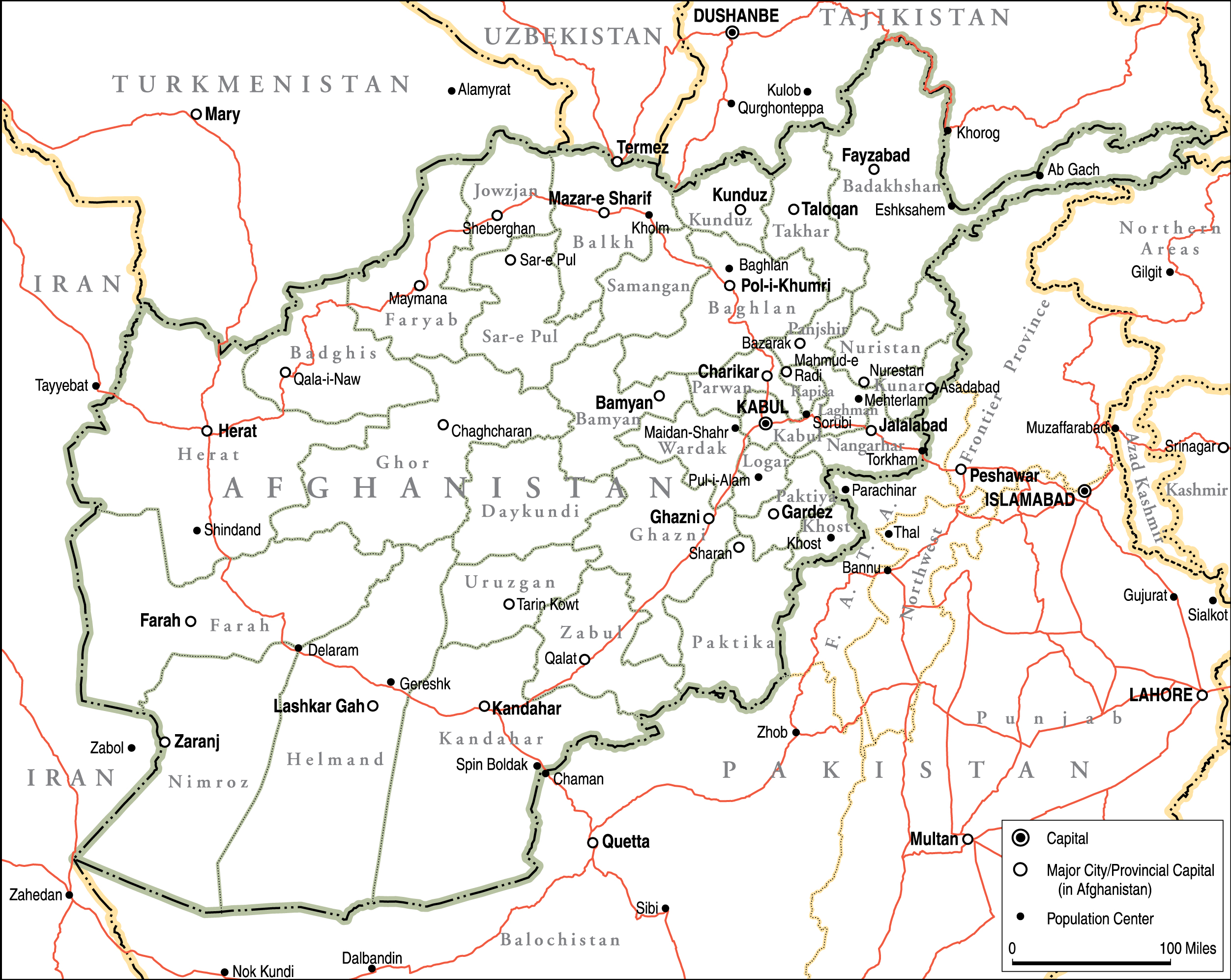Afghanistan Political Map Institute for the Study of War