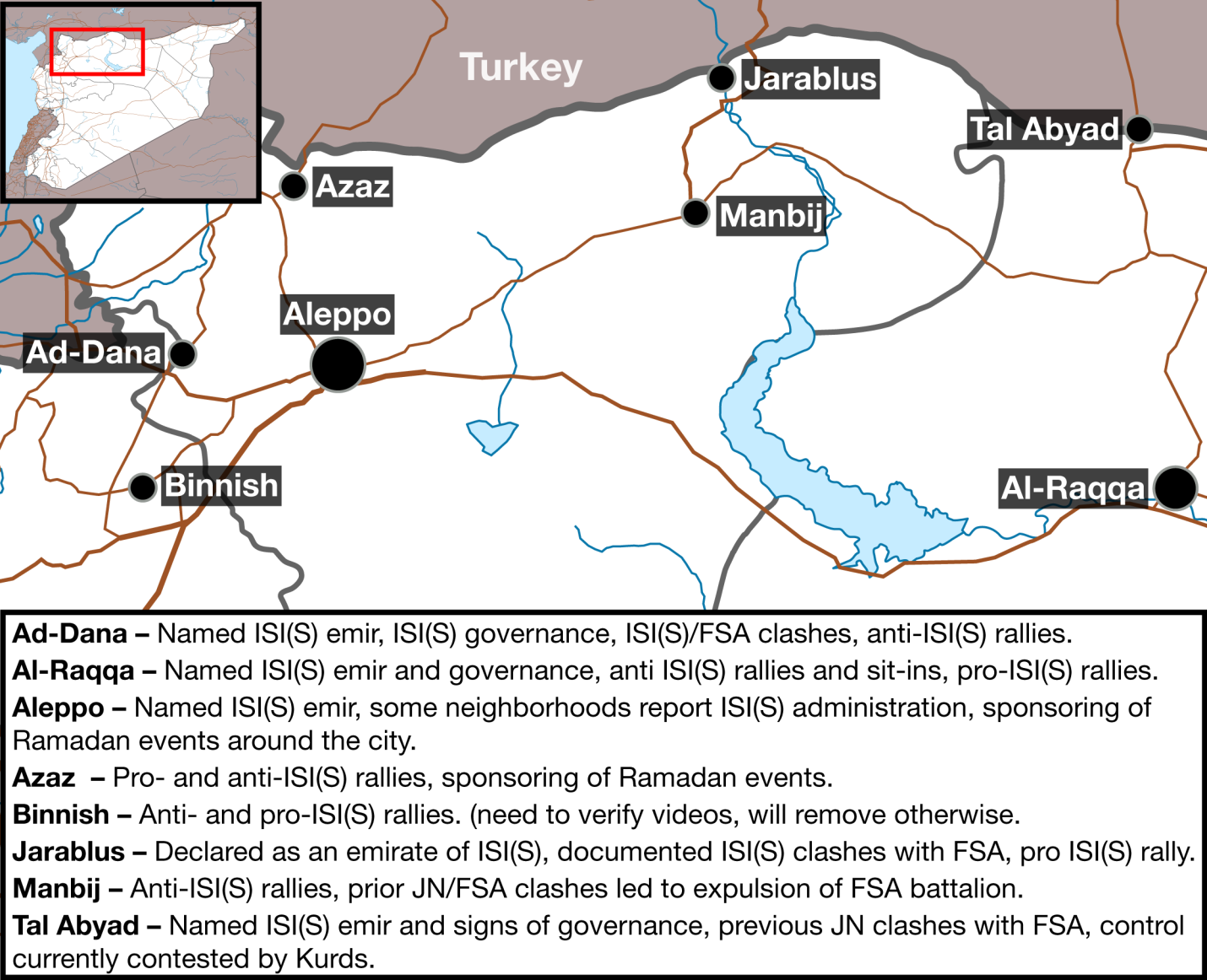 Map of Areas with Evidence of ISI(S) Control