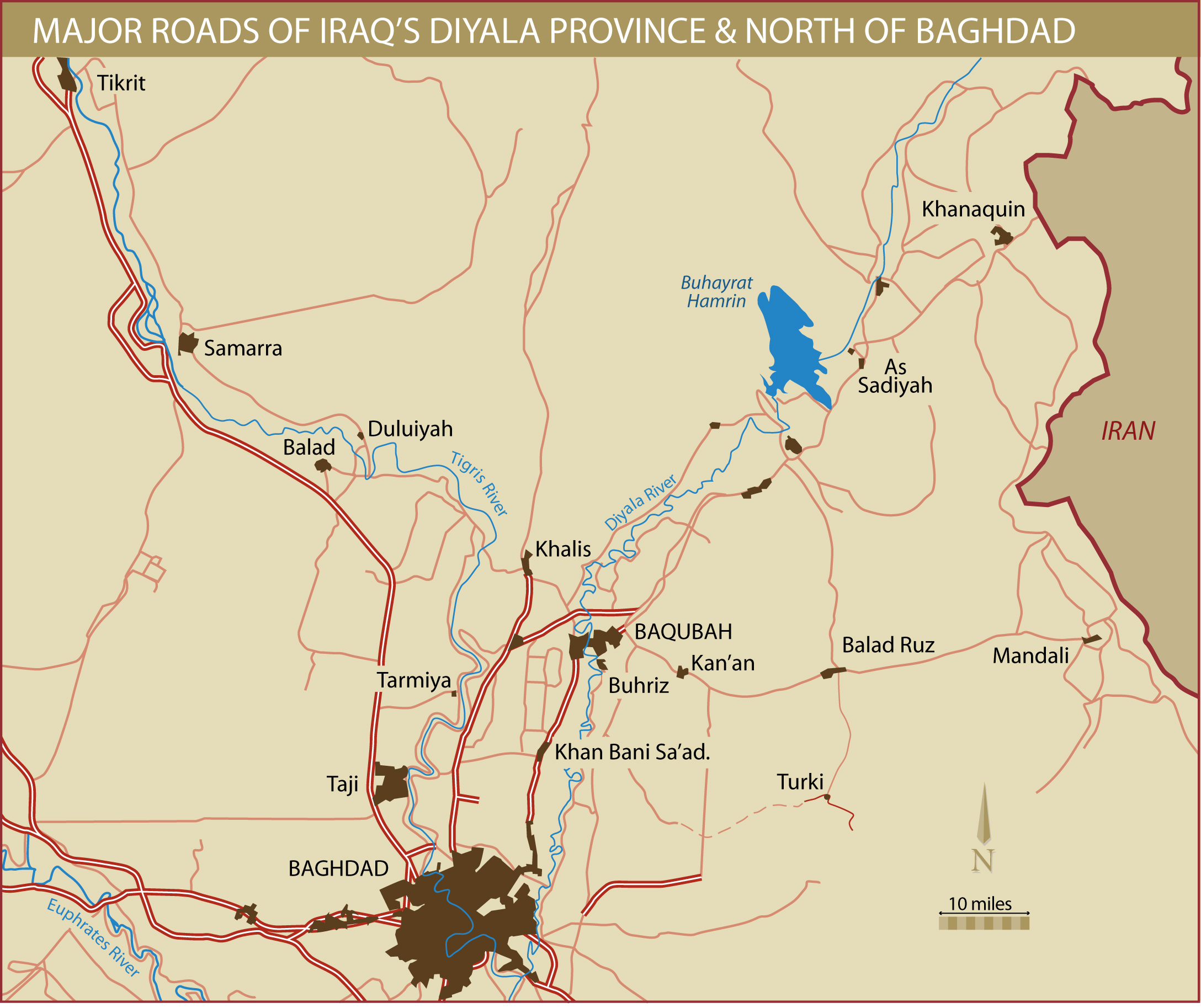 northern baghdad and diyala province roads