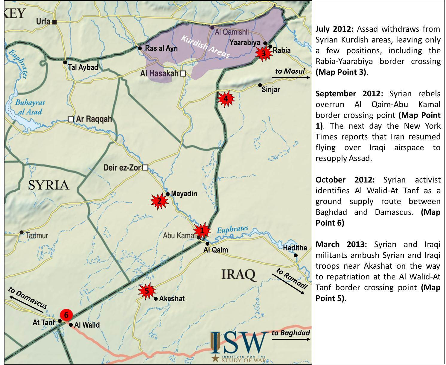 syria update 13 01 iraq syria overland supply routes