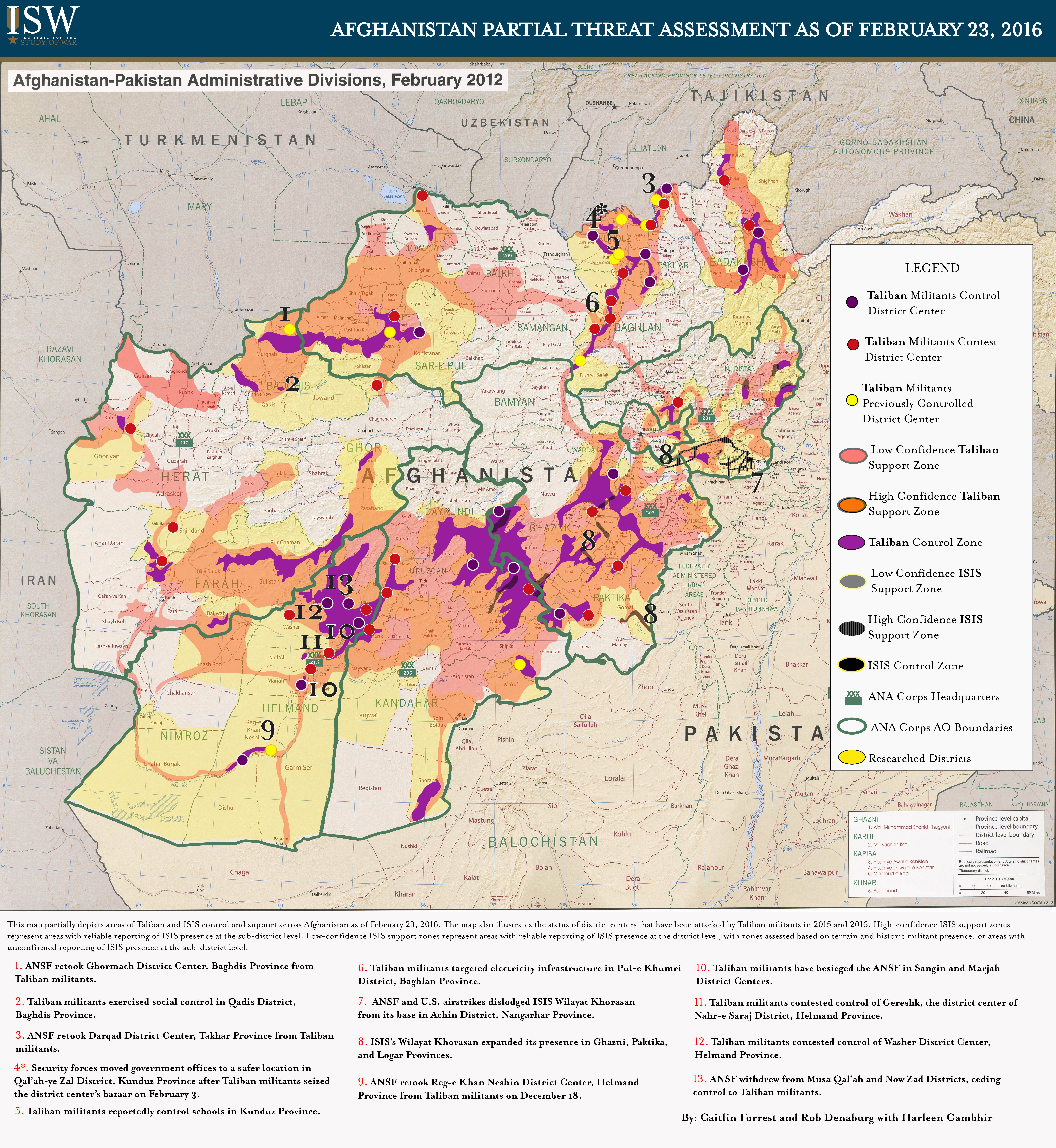 Map room institute for the study of war afghanistan partial threat assessment february 23 2016 gumiabroncs Image collections