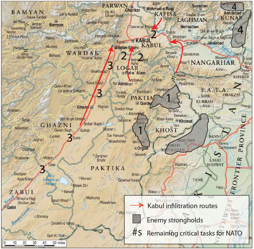 Map-The Fight for Eastern Afghanistan