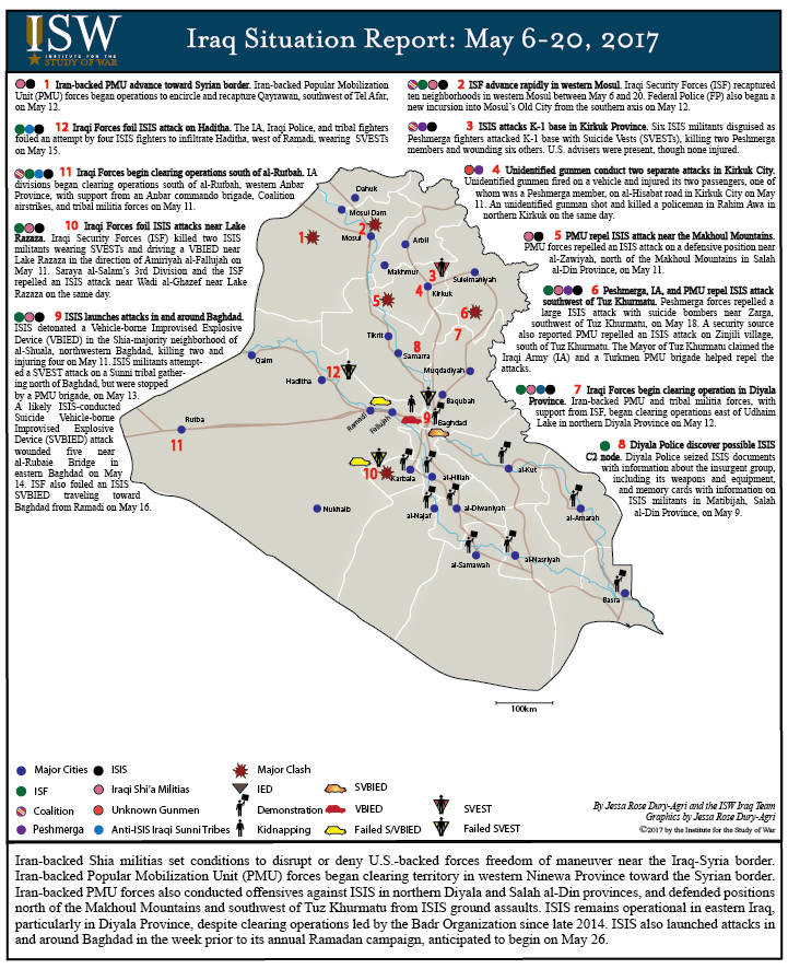 Iraq Situation Report: May 6 - 20, 2017 | Institute for the Study of War