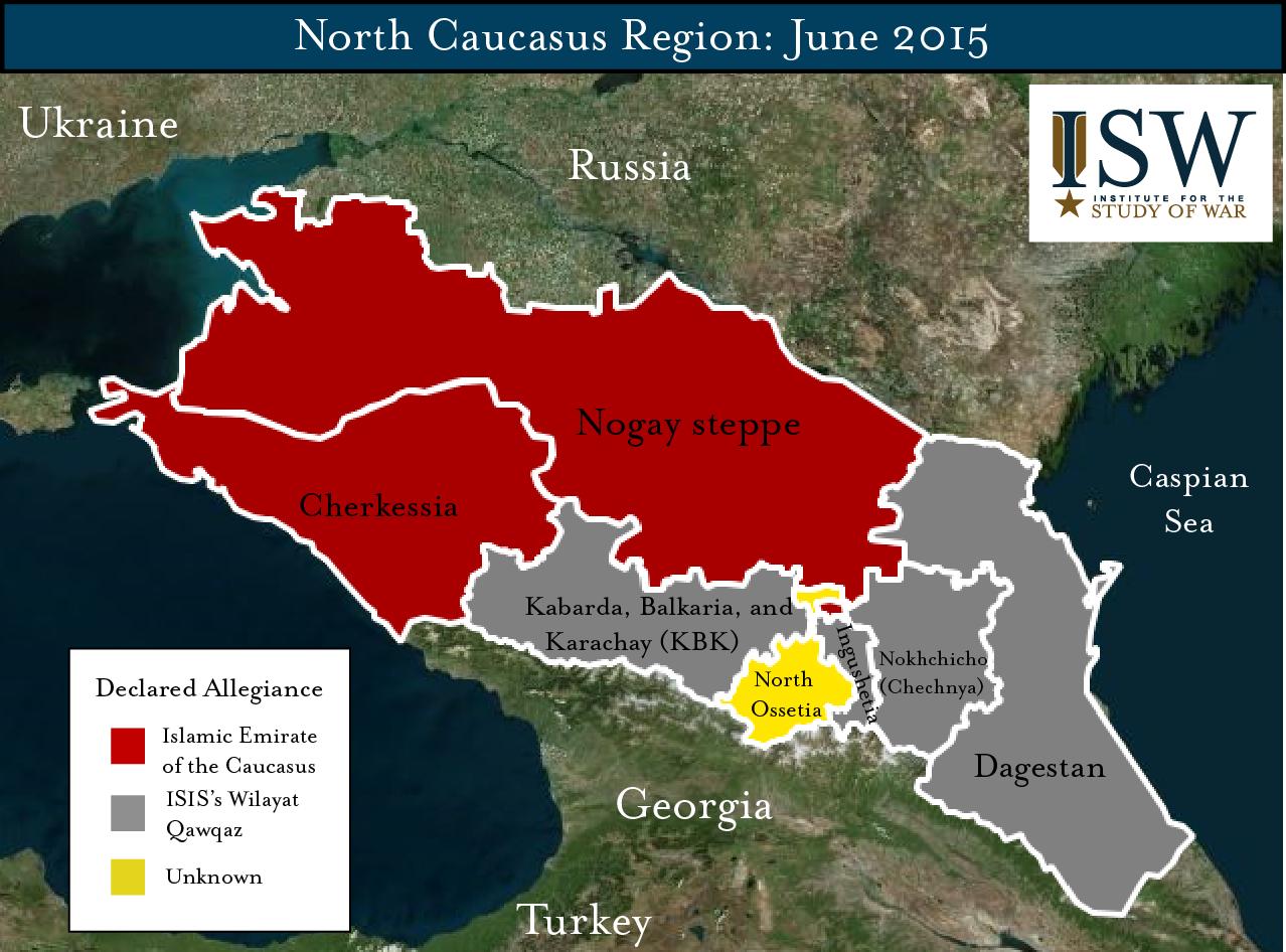 ISIS And AlQaeda In The Caucasus Map June Institute For - Caucasus map