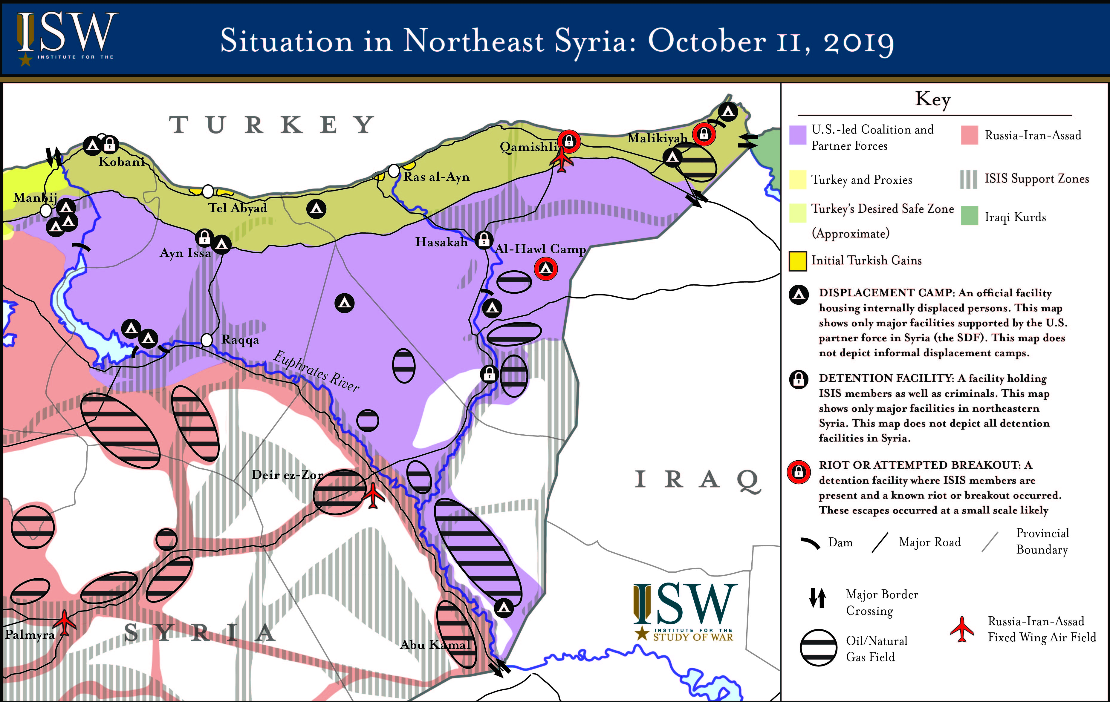 Map: Turkey\'s New Syria Offensive   Institute for the Study ...