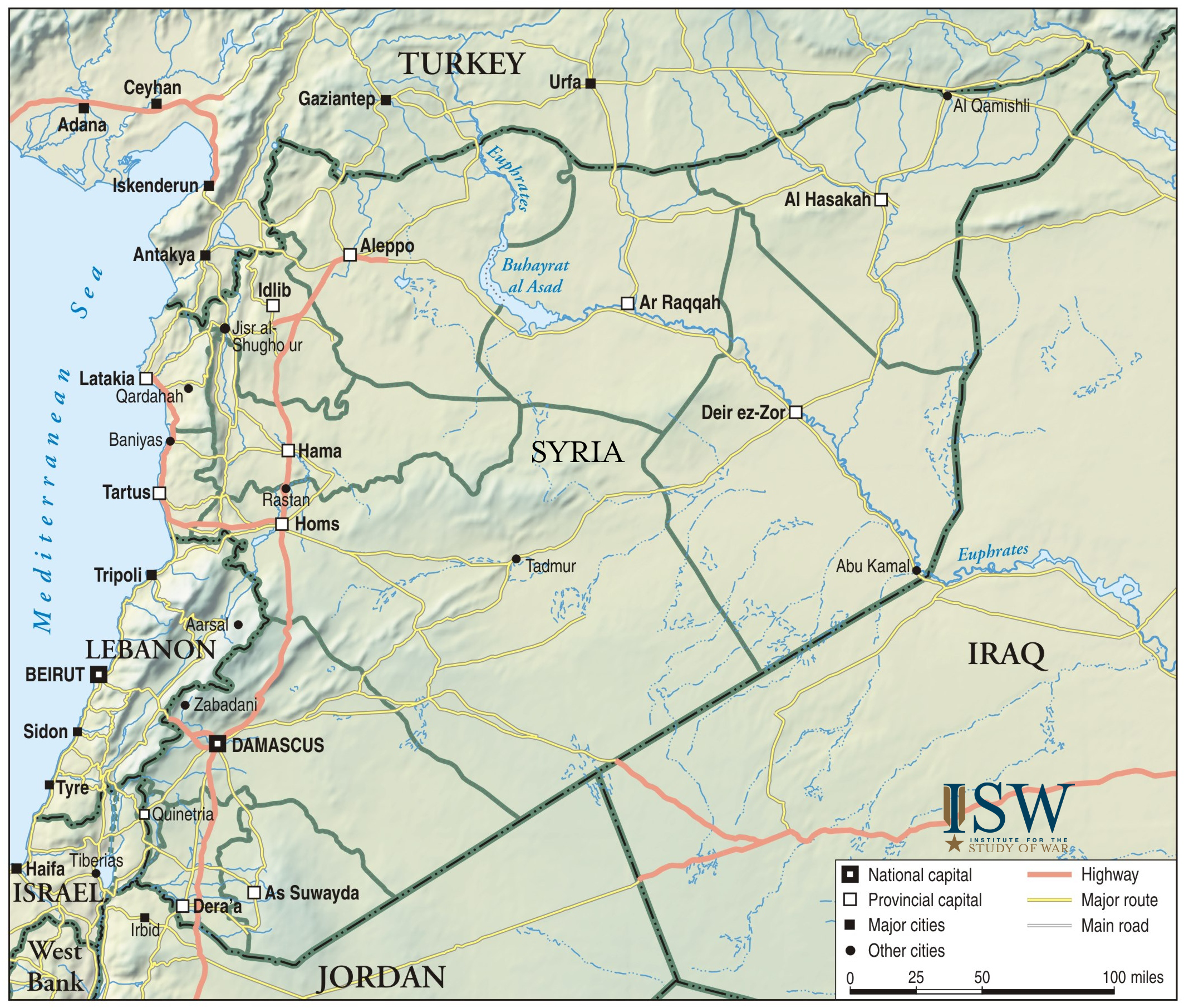 Map Of Syria Institute For The Study Of War - Qamishli map