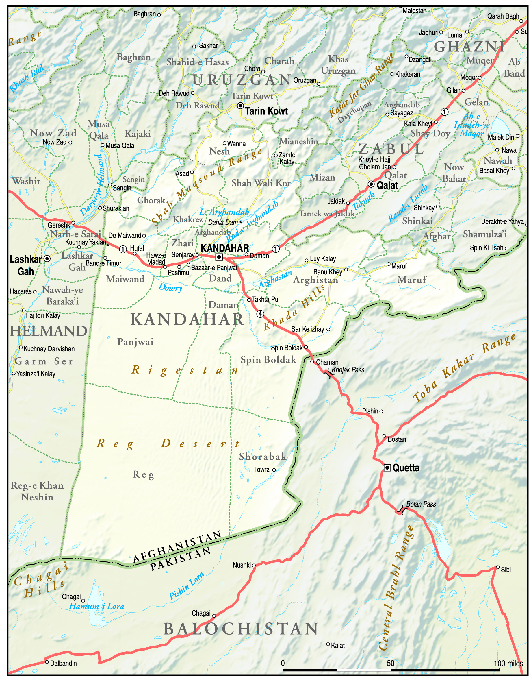 Kandahar Map | Maps