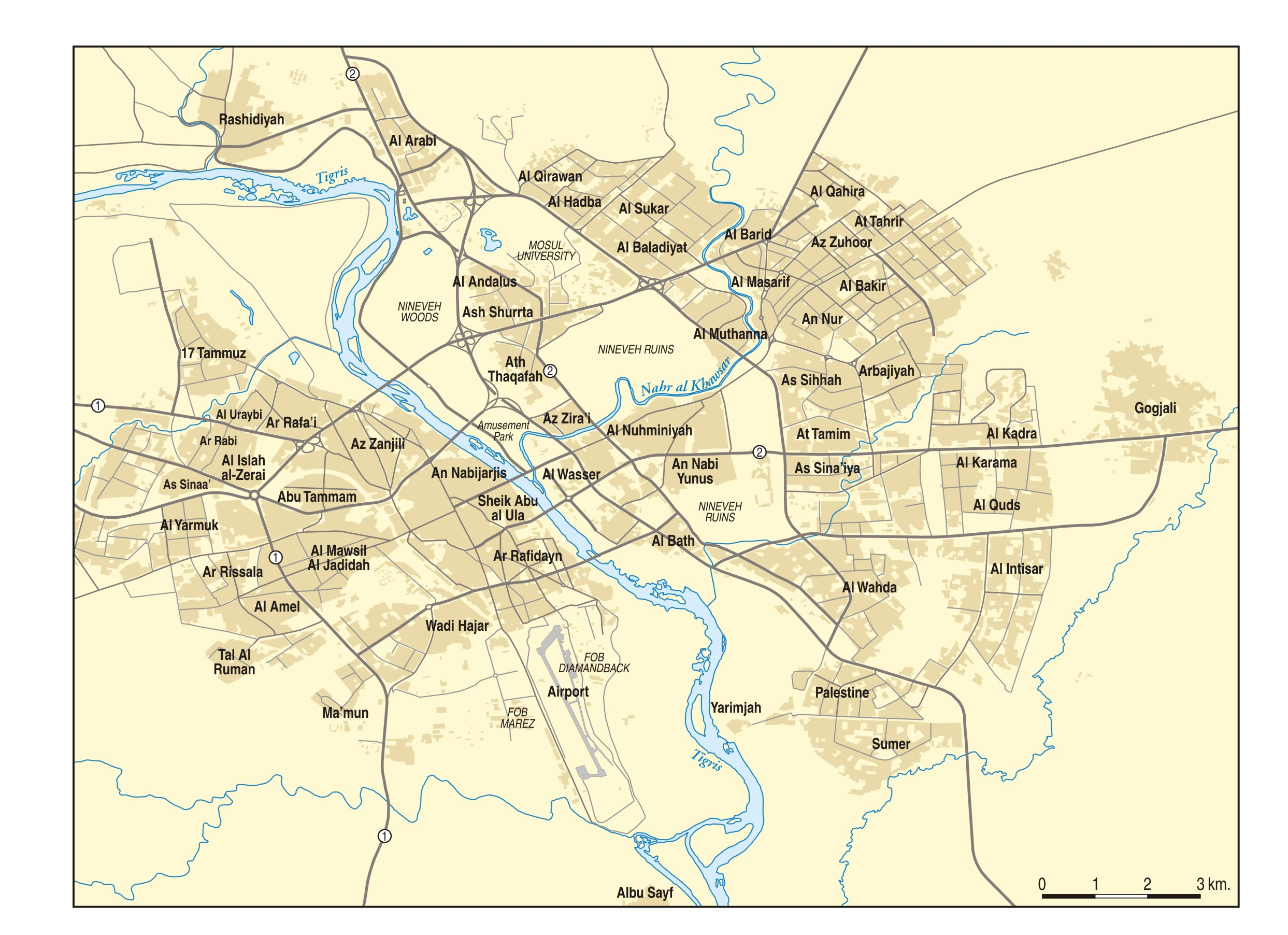 Map of Mosul Institute for the Study of War