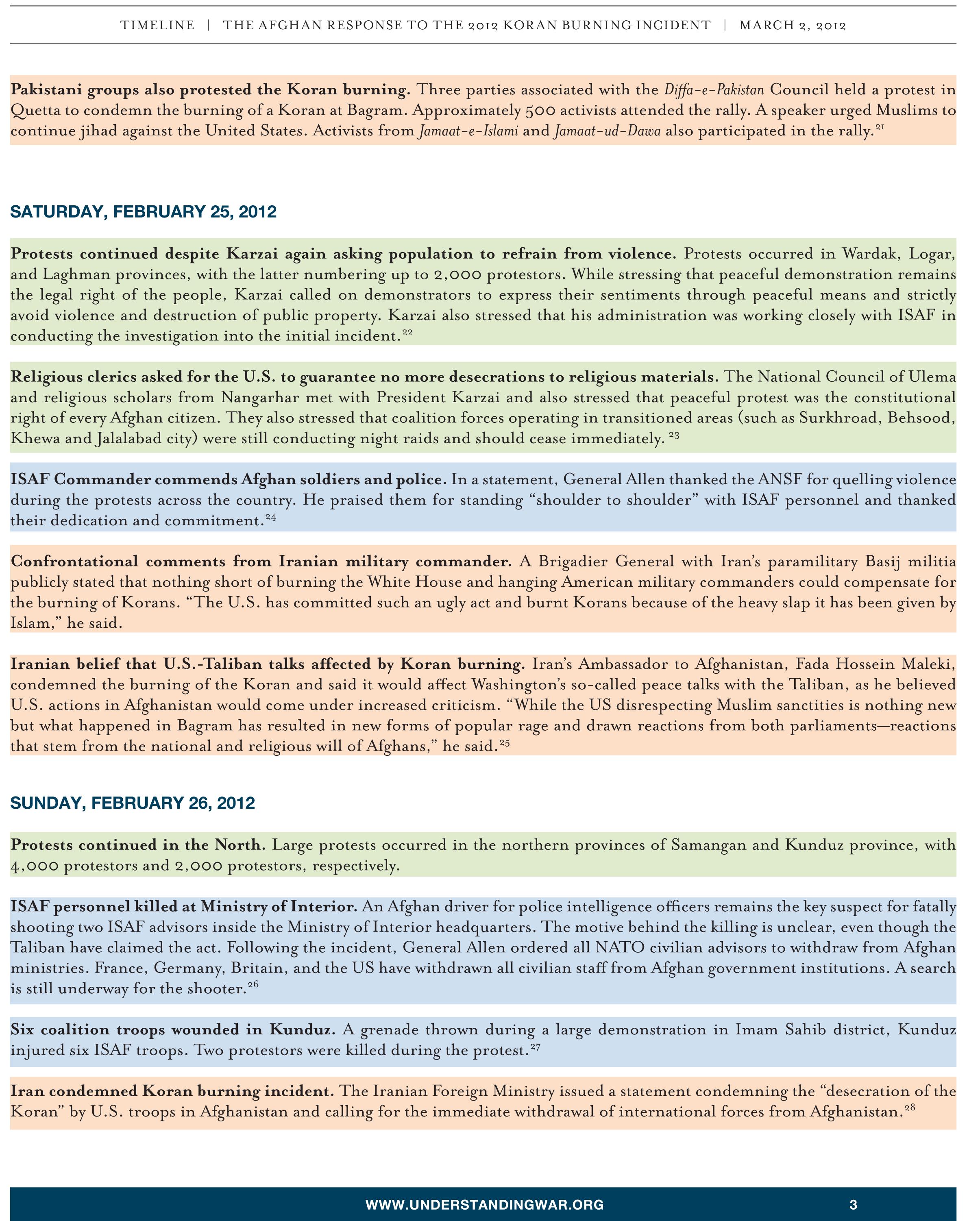 Protest Timeline 3
