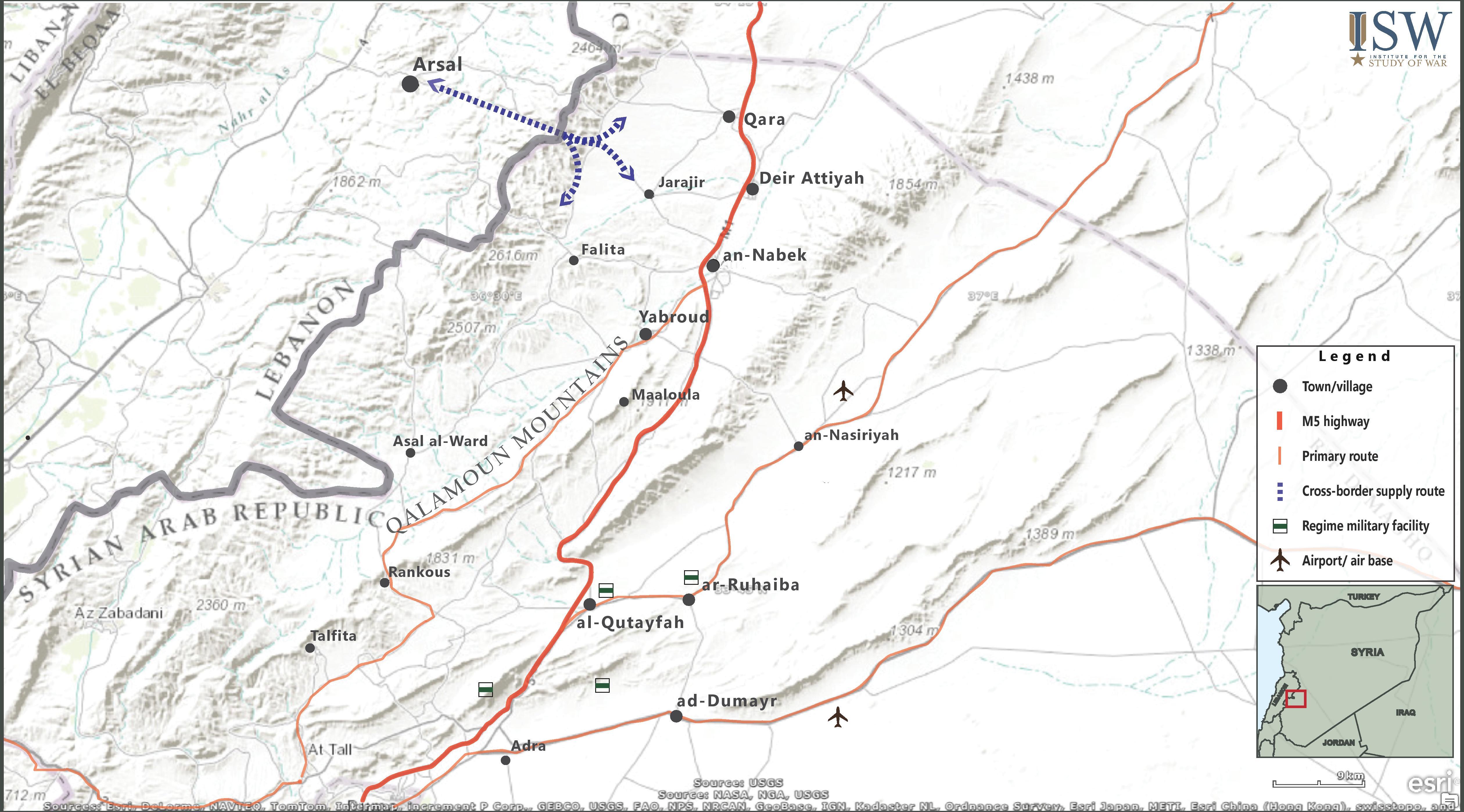 Qalamoun Map