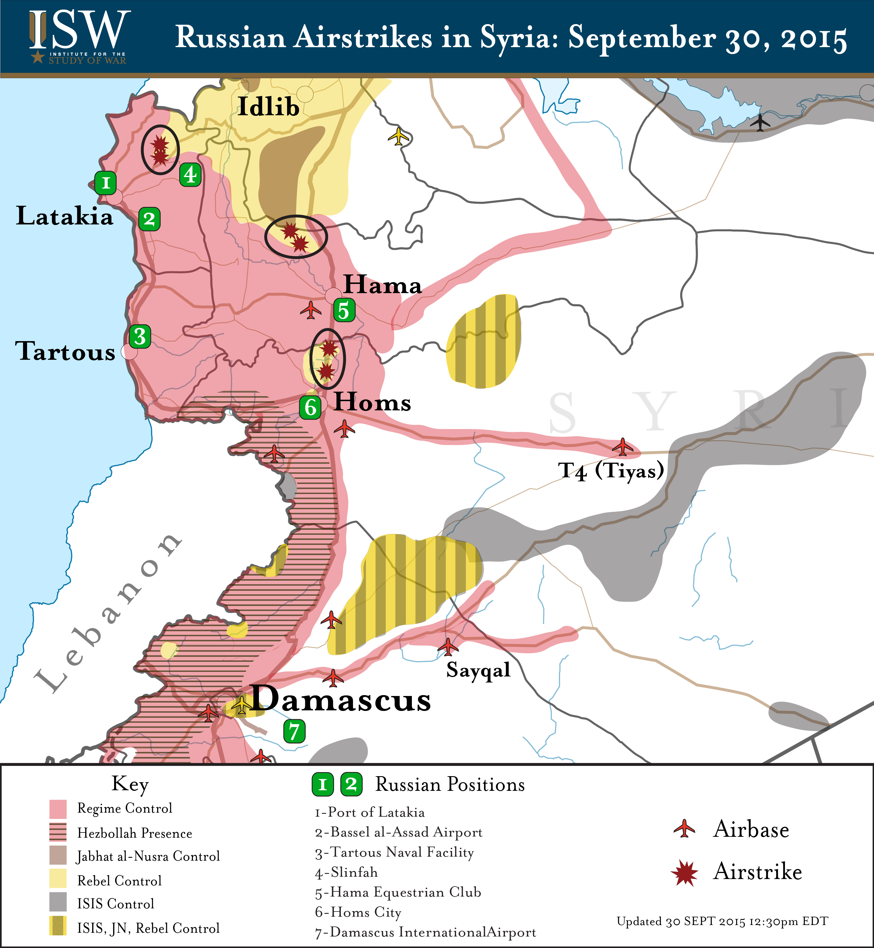 russian airstrikes in syria september 30 2015