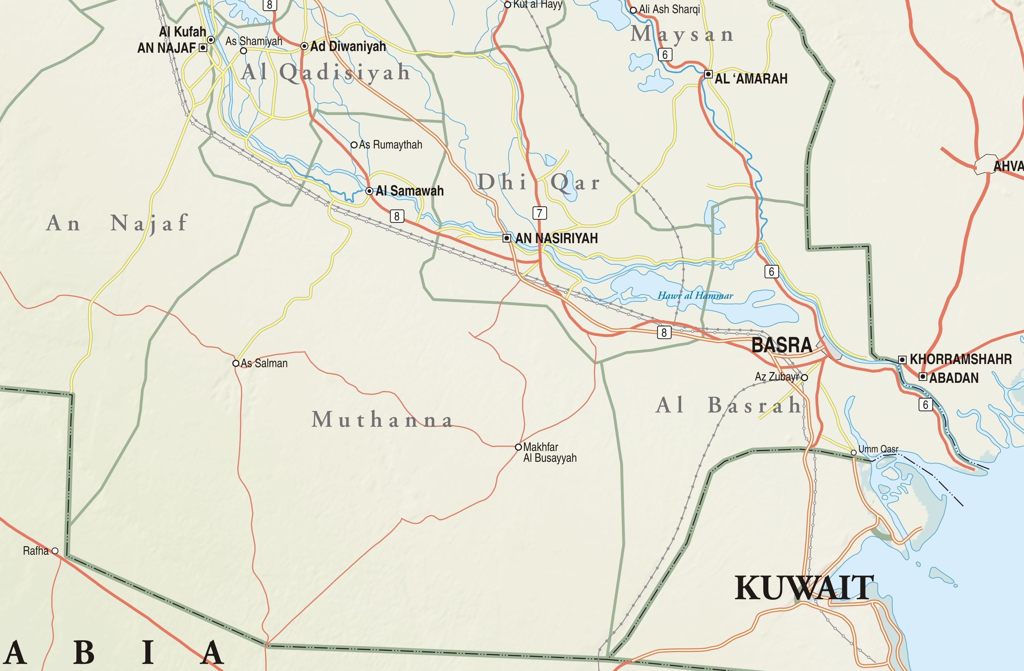 Map of Southern Iraq | Institute for the Study of War