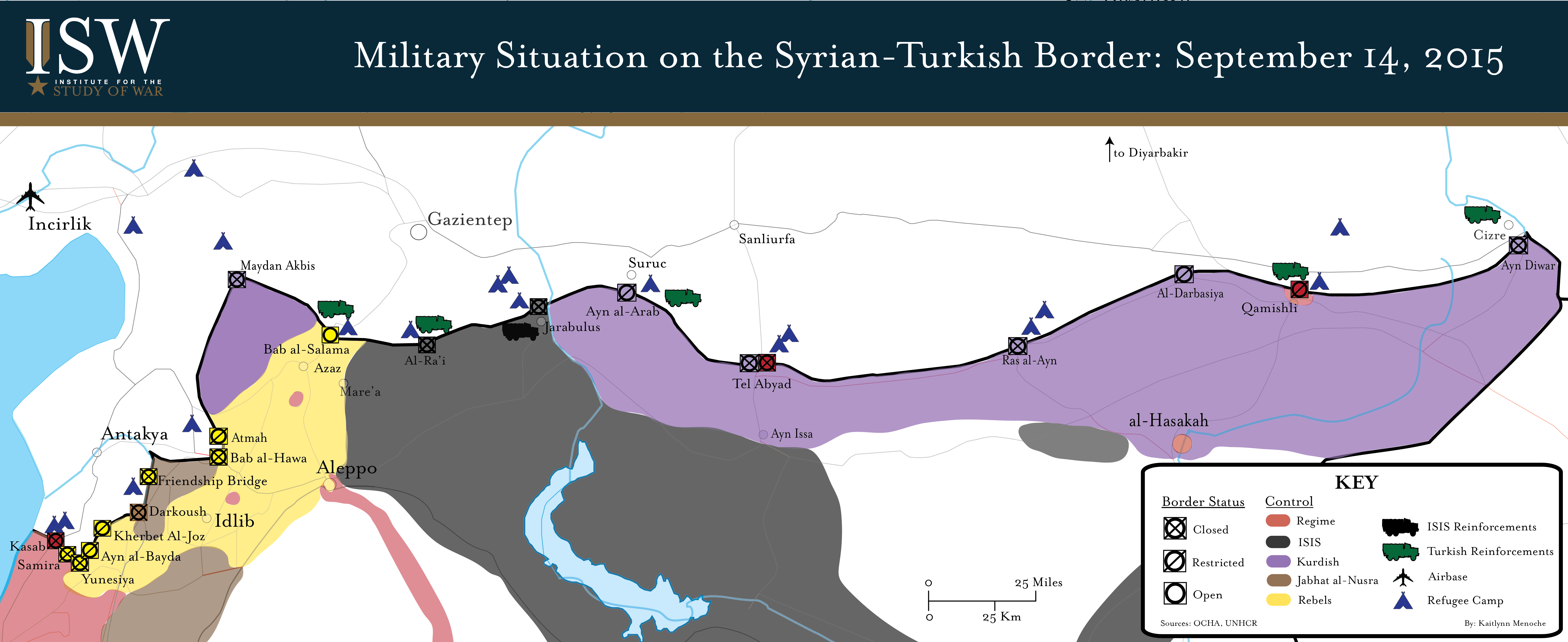 Military Situation On The SyrianTurkish Border September - Where is syria and turkey