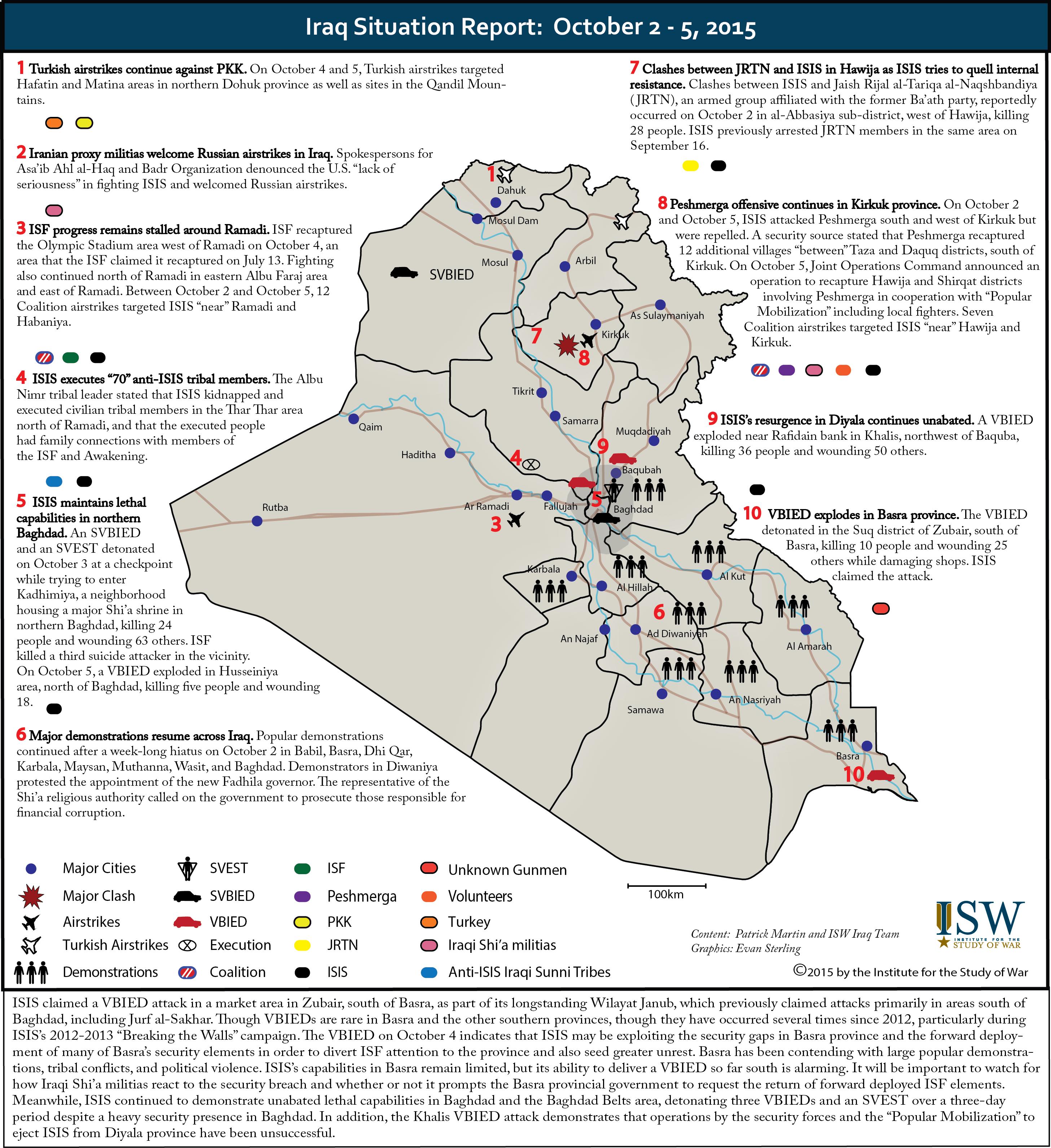 Syrian Civil War Map October 2015