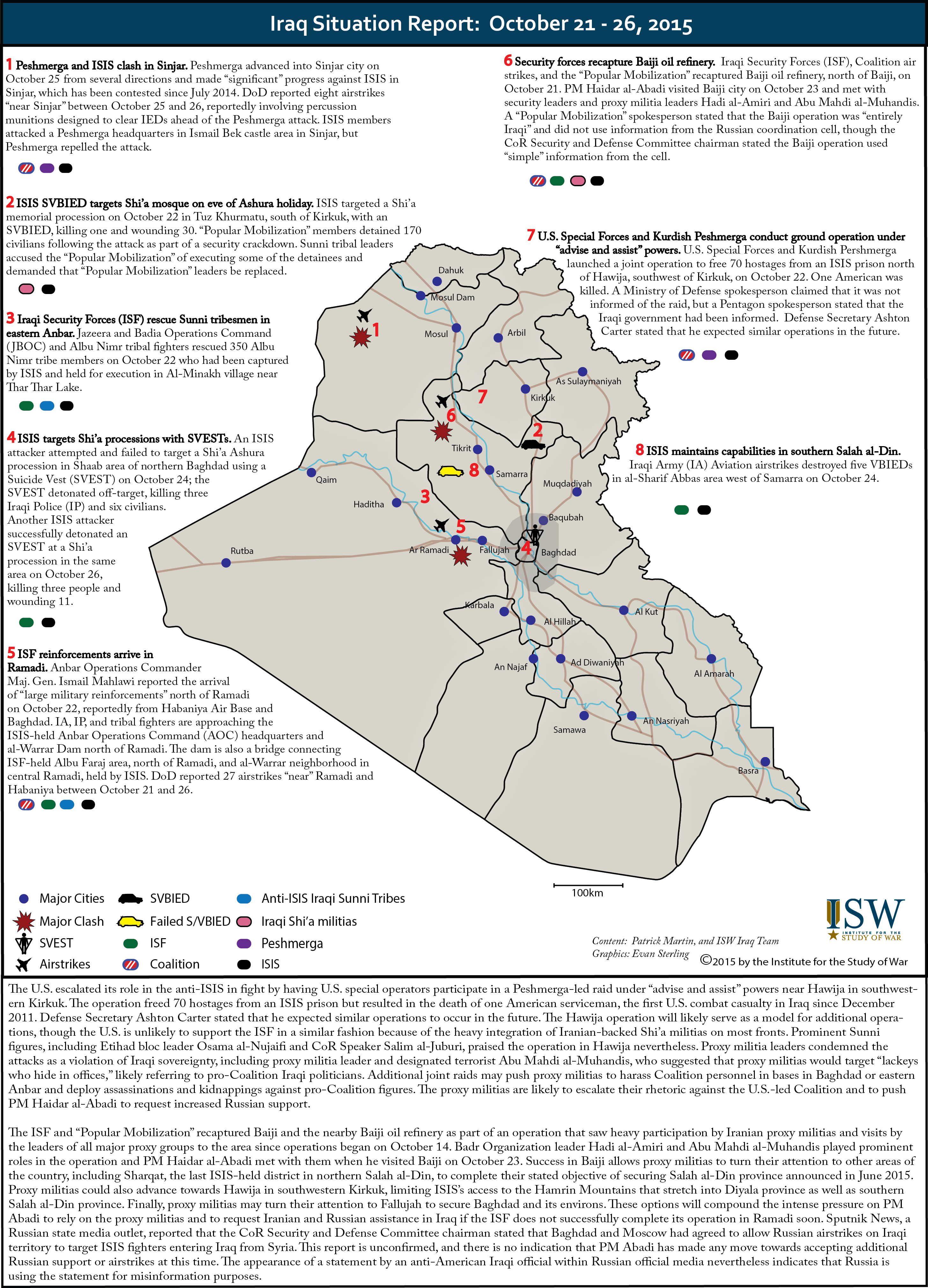 Iraq Situation Report October 21