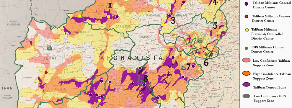 Institute for the Study of War – Map of Iraq and Afghanistan